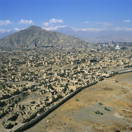 Devastation from Civil War, Kabul, Afghanistan-David Lomax-Photographic Print