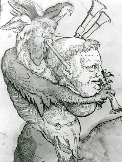 Devil Playing Man's Head as a Saxophone, 1144--Giclee Print