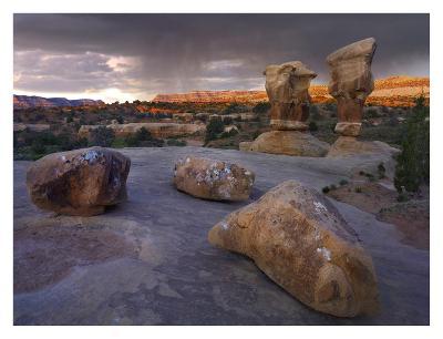 Devil's Garden sandstone formations, Escalante National Monument, Utah-Tim Fitzharris-Art Print