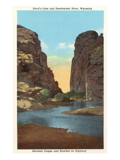 Devil's Gate and Sweetwater River, Wyoming--Art Print