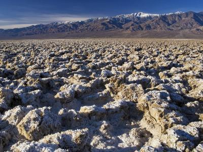 Devil's Golf Course, Panamint Range with Telescope Peak in Distance, Death Valley-Witold Skrypczak-Photographic Print