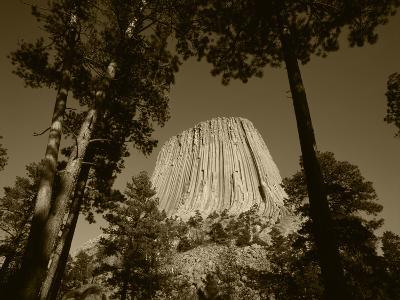 Devil's Tower National Monument at Dusk, Hulett, Wyoming, USA-Walter Bibikow-Photographic Print