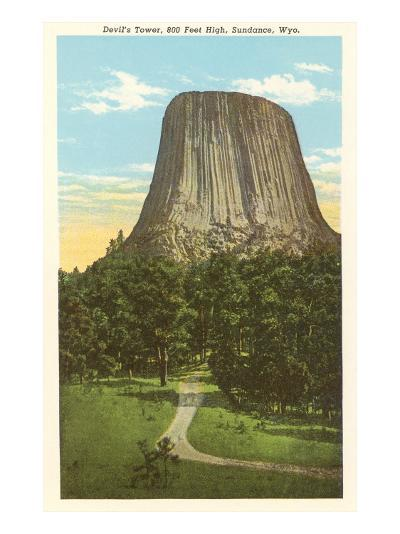 Devil's Tower, Sundance, Wyoming--Art Print