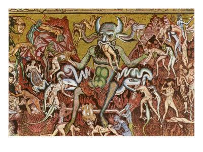Devil with Goyesque Scene from Hell--Art Print