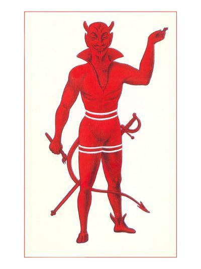 Devil with Sword and Paintbrush--Art Print