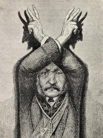 Devil Worship, from 'The Freemason', by Eugen Lennhoff, Published 1932--Giclee Print