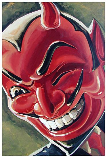 Devilish Grin-Mike Bell-Art Print