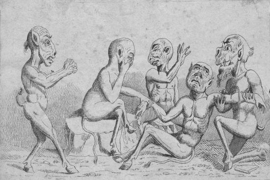 'Devils at Home - Breathing a Vein', c19th century-Unknown-Giclee Print