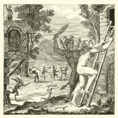 Devils Would Often Lay Hold of Men and Flog Them. Abbe Boileau--Giclee Print