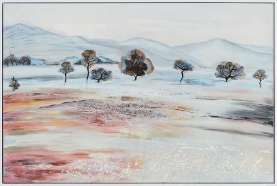 Devonshire Fields--Framed Hand Painted Art