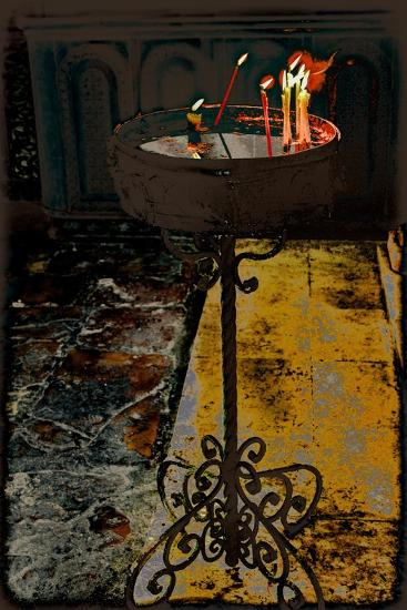 Devotional Candles; from the Series Church of the Holy Sepulchre, 2016-Joy Lions-Giclee Print