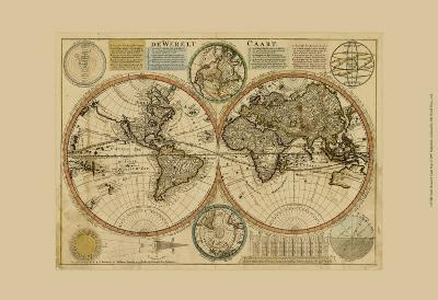 Dewerelt Caart Map--Art Print