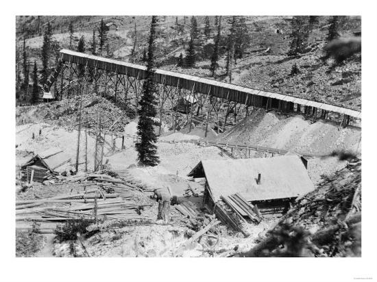 Dewey Gold Mine on Thunder Mountain, Idaho Photograph - Thunder Mountain, ID-Lantern Press-Art Print