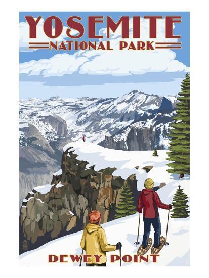 Dewey Point - Yosemite National Park, California-Lantern Press-Art Print