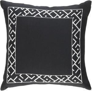 Dexter 18 x 18 Pillow Cover - Black