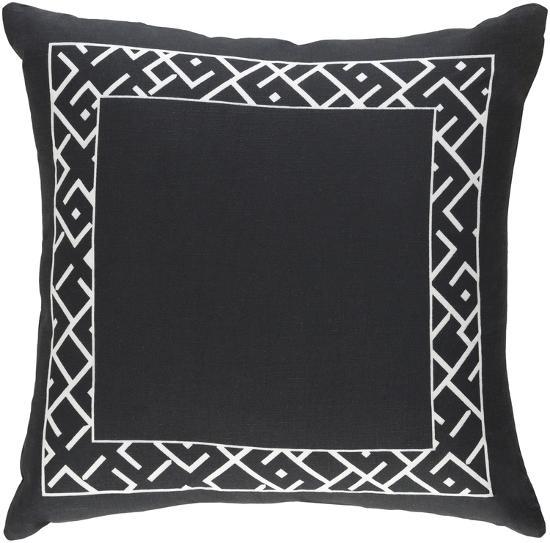 Dexter 18 x 18 Poly Fill Pillow - Black--Home Accessories