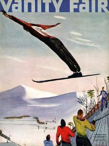 Vanity Fair Cover - January 1936 by Deyneka