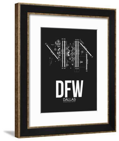 DFW Dallas Airport Black-NaxArt-Framed Art Print