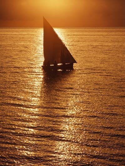 Dhow Heading Out to Sea at Dawn-Design Pics Inc-Photographic Print