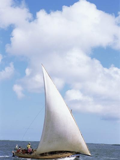 Dhow in the Indian Ocean, Lamu Island, Kenya, East Africa, Africa-Storm Stanley-Photographic Print