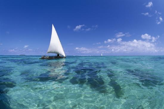 Dhow on Clear Seas-Paul Souders-Photographic Print