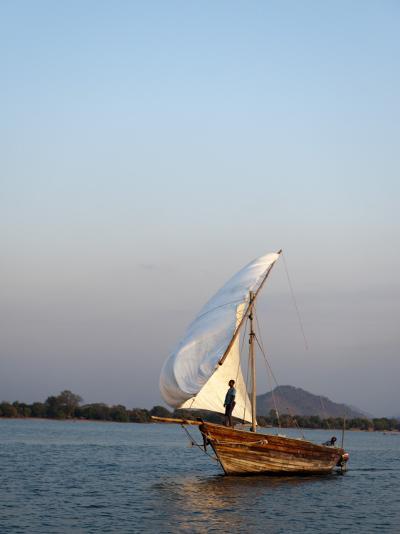Dhow on Lake Malawi, Cape Maclear-Ariadne Van Zandbergen-Photographic Print