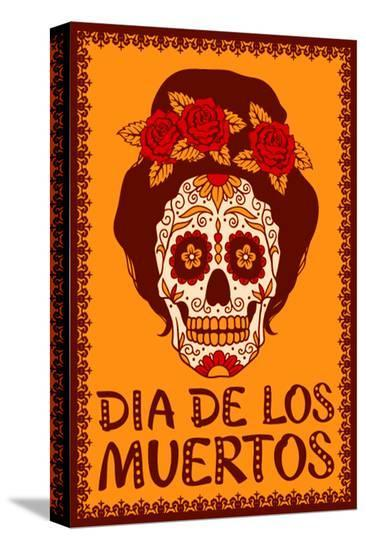 Dia de Los Muetros--Stretched Canvas Print