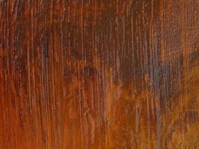 Diagonal Brush Strokes in Orange Paint--Photographic Print