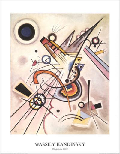 Diagonale, c.1923-Wassily Kandinsky-Art Print