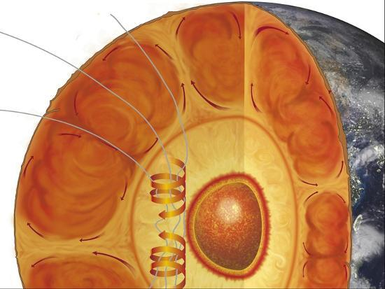 Diagram Of Earths Interior Structure Showing Inner Core Outer Core Mantle And Crust Giclee Print By Art Com