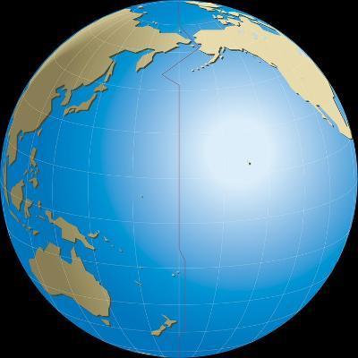 Diagram of Earths International Date Line--Giclee Print