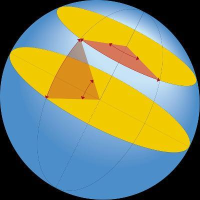 Diagram of Geographic Coordinate System of Earth--Giclee Print