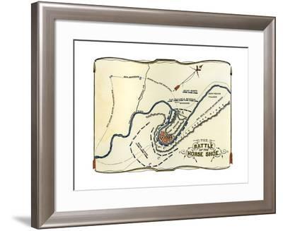 Diagram of the Battle of Horseshoe Bend in Alabama, War of 1812--Framed Giclee Print