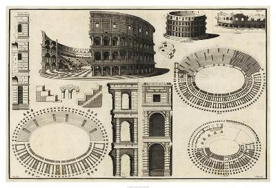 Diagram of the Colosseum-Unknown-Giclee Print