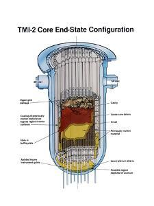 Diagram of the Partially Melted Nuclear Reactor at Three Mile Island, April 1979