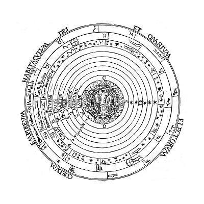 Diagram Showing Geocentric System of Universe, 1539-Petrus Apianus-Giclee Print