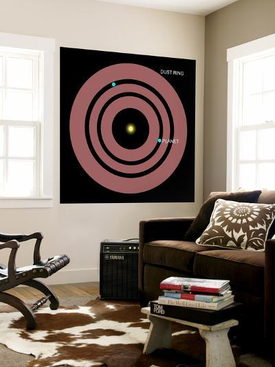 Diagram Showing How Planets Orbit Within a Ring of Dust Surrounding Beta Pictoris-Stocktrek Images-Wall Mural