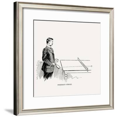 Diagram Showing How to Execute the Perfect Forehand Stroke, 1902--Framed Giclee Print
