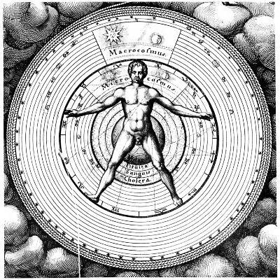 Diagram Showing Man's Position in the Universe, 1617-19-Robert Fludd-Giclee Print