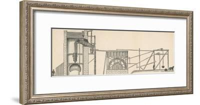 Diagram Showing the Use of a Steam Engine in a Coal Mine--Framed Giclee Print
