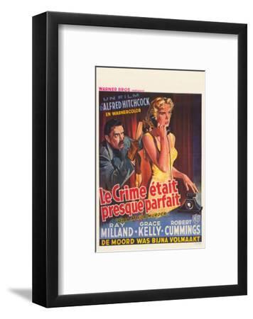 Dial M For Murder, Belgian Movie Poster, 1954