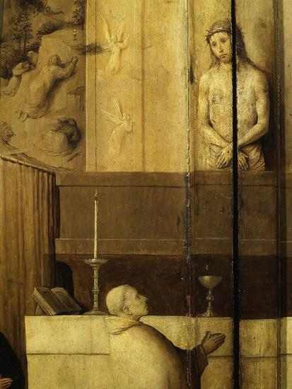 Dialogue Between Christ and Gregory the Great, 540-604 Saint and Pope, Grisaille-Hieronymus Bosch-Giclee Print