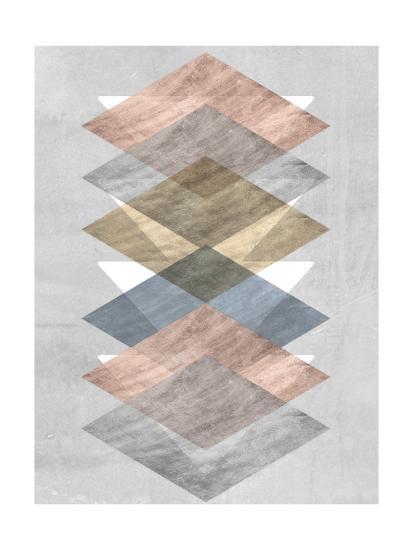 Diamond Allign II-Jennifer Goldberger-Art Print