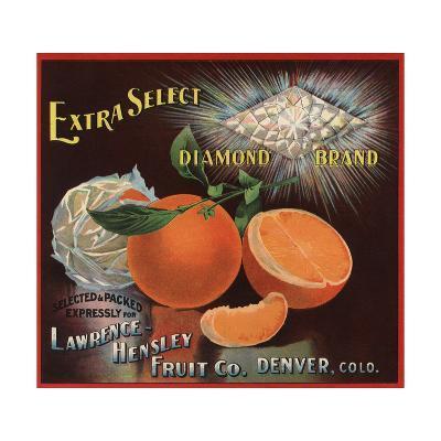 Diamond Brand - Denver, Colorado - Citrus Crate Label-Lantern Press-Art Print