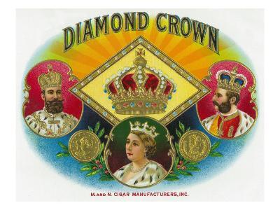 Diamond Crown Brand Cigar Box Label-Lantern Press-Art Print