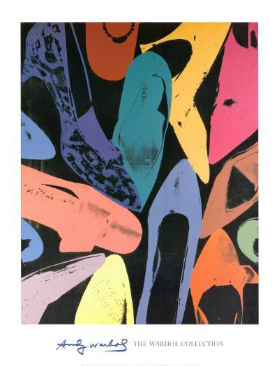 Diamond Dust Shoes, 1980 (Lilac, Blue, Green)-Andy Warhol-Art Print