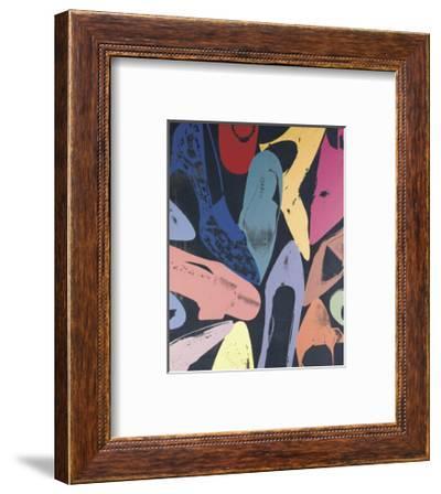 Diamond Dust Shoes, 1980 (lilac, blue, green)-Andy Warhol-Framed Art Print