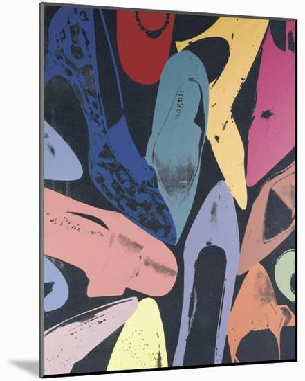 Diamond Dust Shoes, 1980 (lilac, blue, green)-Andy Warhol-Mounted Art Print