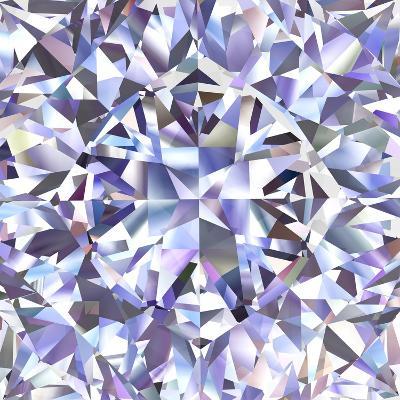 Diamond Geometric Pattern Of Colored Brilliant Triangles-oneo-Art Print