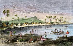 Diamond Head and Waikiki in the Hawaiian Islands, 1870s